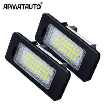2x Car Led License Plate Led Light Lamp 12v White For BMW E39 E60 E82 E90 E92 E93 M3 E39 E60 E70 X5 E60 E61 M5 E88 image