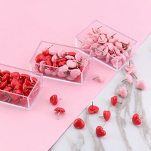 Thumbtacks Push-Pins Stationery Heart-Shape Plastic Office Colored School High-Quality