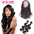 360 Lace Frontal Virgin Hair With Bundle Peruvian Virgin Hair Body Wave With Frontal Closure Lace Frontal Closure With Bundles