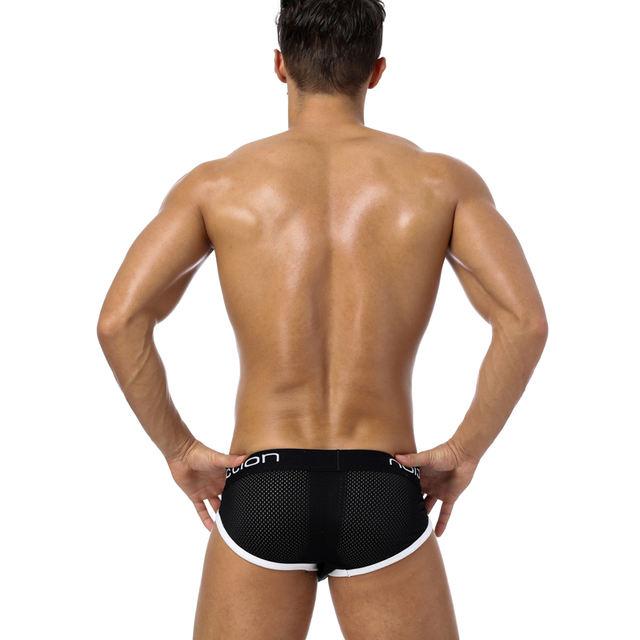 Brand Men Underwear Mesh Sexy Men Briefs Breathable Mens Slip Cueca Male Panties Underpants Briefs Cotton Shorts Quick Dry BS107