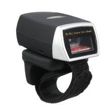 Usable Anillo Weirless Escáner Mini Bluetooth Escáner Lector de código de Barras láser Escáner de Código de Barras 1D Lector de Escaneo para PC Tableta Del Teléfono