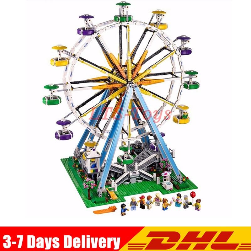 Lepin 15012 City Street Ferris Wheel Model Building Kits Set Assembling Blocks Toy Compatible Legoed 10247 Birthday Toys 15012 2478pcs city series expert ferris wheel set compatible with 10247 model building blocks toys