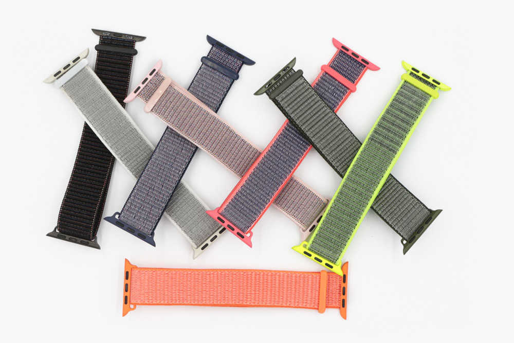 URVOI 2018 Sport loop for apple watch series 4 3 2 1 band for iwatch double-layer woven nylon breathabe strap hook fastener