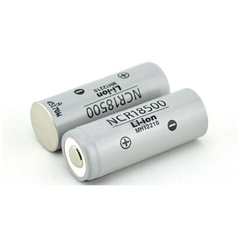 New 2pcs/lot NCR18500/18490 rechargeable batteries 18500 3.7v 2000 mAh li-ion battery pilas recargables for Panasonic Flashlight
