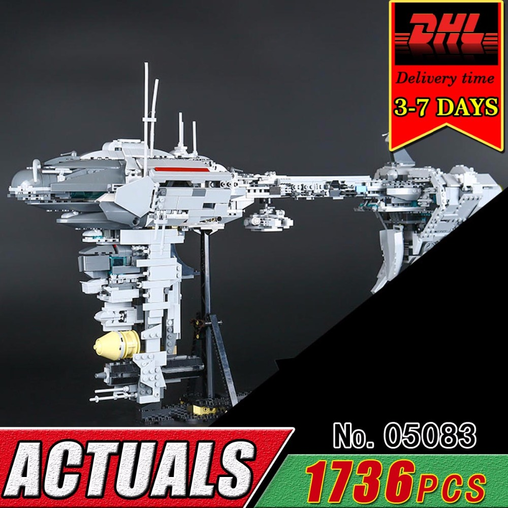 DHL LEPIN 05083 Star Series Children Kid Toy MOC Medical Frigate Model Set Building Blocks Compatible Military War Brick 1736Pcs enlighten building blocks navy frigate ship assembling building blocks military series blocks girls