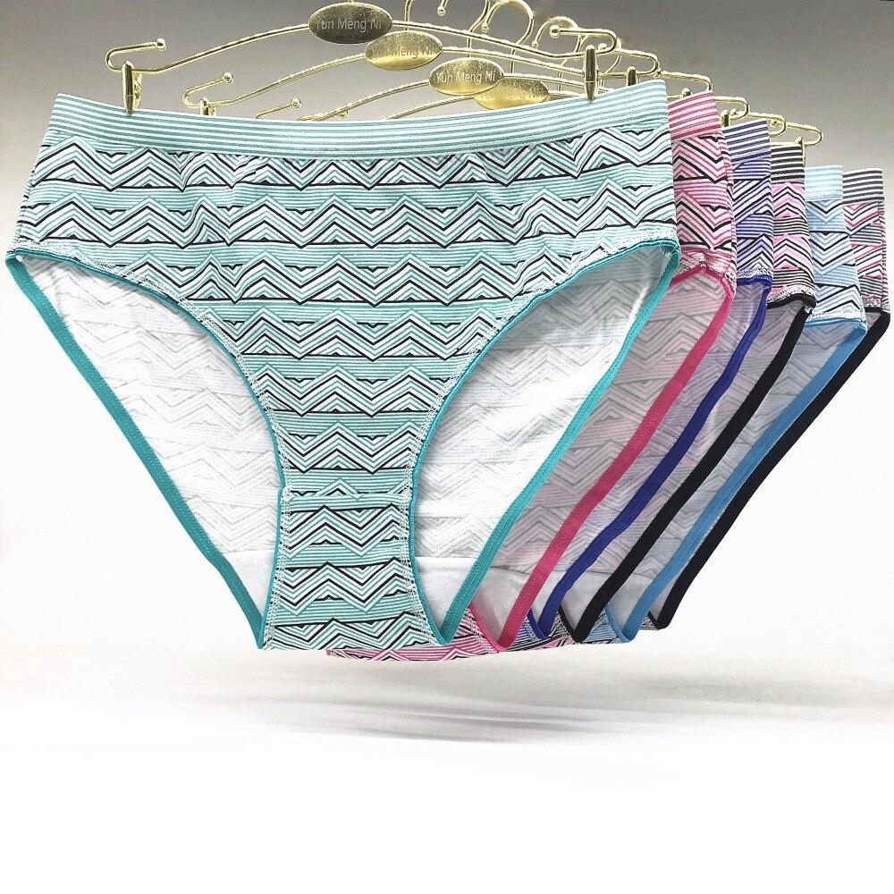 Underwear women plus size cotton   panties   sexy big size briefs high waist lady girl intimate 6pieces set XXL XXXL XXXXL