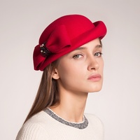 Sedancasesa Female Wool Felt Beret Hats For Women French Lady Artist Flat Cap Bow Boina Feminino