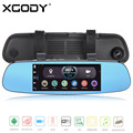 XGODY D1 Plus 7.0 inch Android Car Rear Mirror DVR 512MB RAM 16GB ROM Dash Cam GPS Navigation with Rearview Camera WiFi AV-IN
