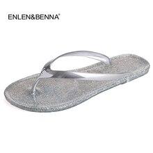 Livraison gratuite Chaussures De Gelée Femme Gelée Flip Flops Femmes Sandales Dames Plat Pantoufles Zapatos Mujer Sapatos Femininos nouveau 2015