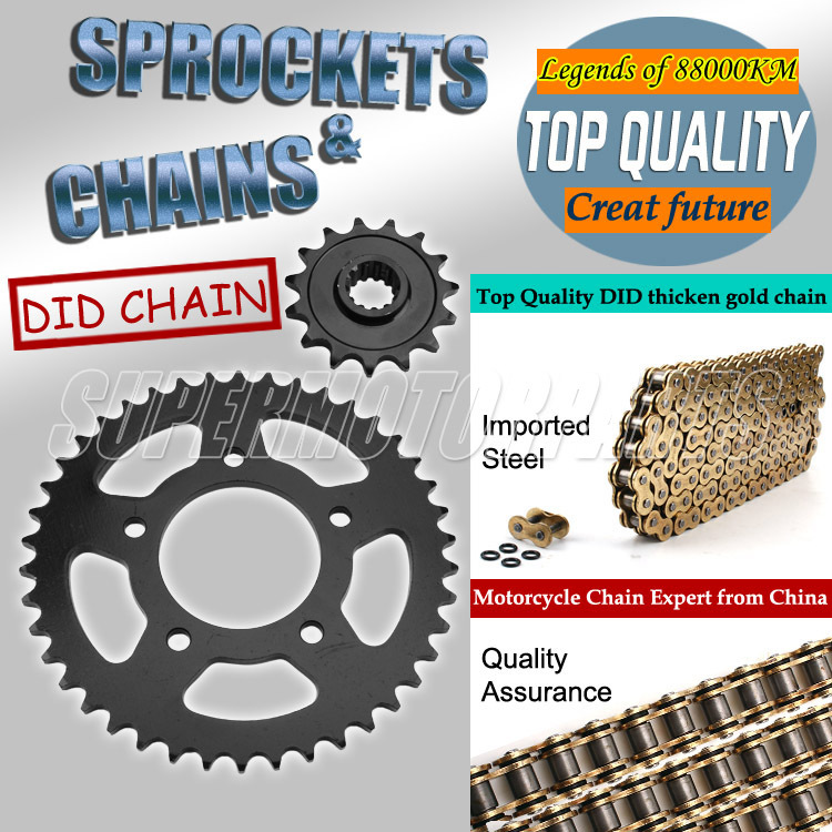 1 Set Front and Rear Sprocket Chain & chain For HONDA CB400 CB-1 Motorcycle92-98 1992 1993 1994 1995 1996 1997 1998 1 set front and rear sprocket chain