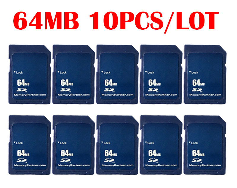 10pcs/Lot SD Card 64MB Carte SD Memory Cards Cheap Compact Flash High Quality For Free Shipping Wholesale China Supplier free shipping 10pcs 100% new sn75153