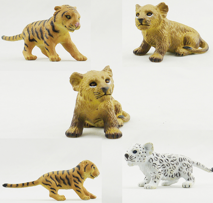Model Bulk Simulation Animal-Toy Children's Bao 3AAA Cub Tiger Lion Youzai Genuine