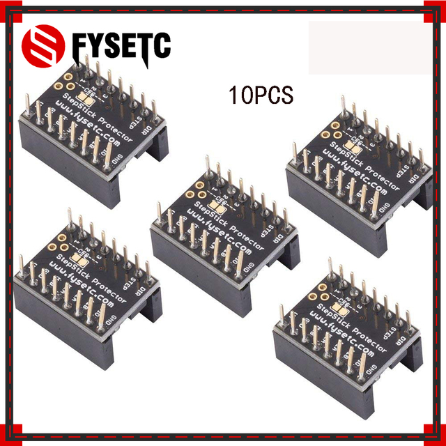 US $87 66 13% OFF|100pcs Silent Step Stick Protector Stepper Motor Drives  Away Grain Filter Jutter Elimination For TMC2100 TMC2208 TMC2130 LV8729-in
