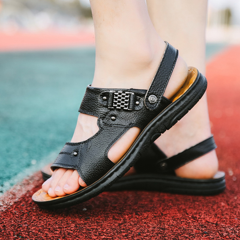 Vara 2018 pantofi pentru bărbați din piele pentru bărbați pantofi - Pantofi bărbați - Fotografie 3