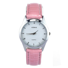 Louise 2016 Hot Novel design New Fashion Classic Lady Womens Girl Unisex Leather Quartz Wrist Watch