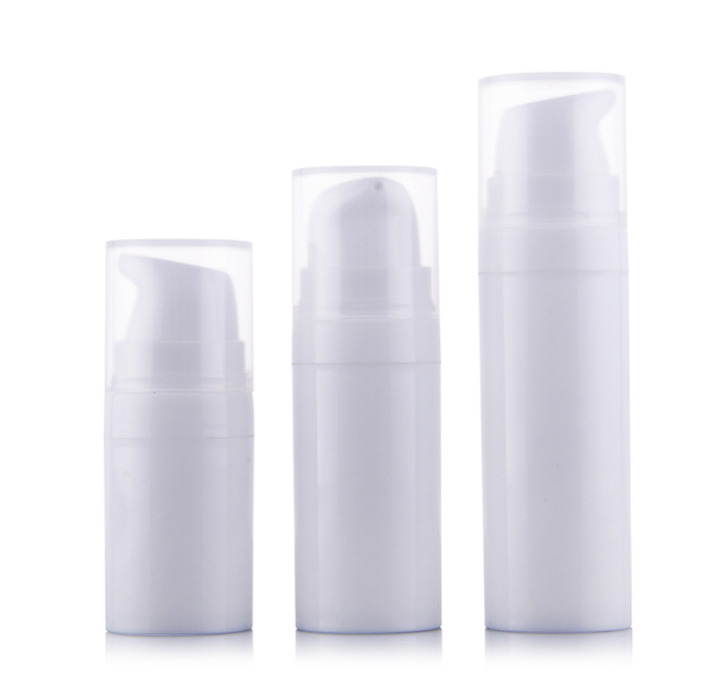 50pcs/lot 5ml 10ml 15ml White Airless Pump Lotion Bottle,1oz PP Airless vacuum bottle,Airless Container,Cosmetic Packaging,PP