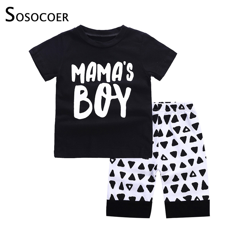 SOSOCOER Baby Boy Clothes Baby Clothing Set Newborn Summer Top Short Pants Mamas Boy 2pcs Baby Boys Sets Infant Toddler Outfits 2pcs set cotton baby summer shorts suits infant baby clothing sets baby boy girl short sleeve clothes suit newborn clothing set
