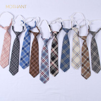 Tie men and women pleated skirt uniform plaid tie to work school casual out formal occasions fashion trend tie