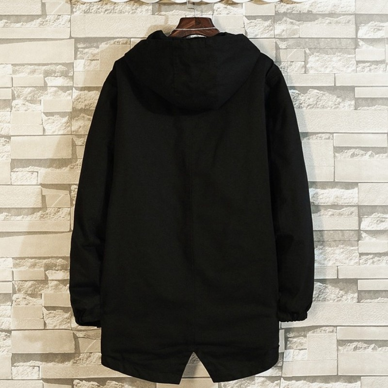 PLUS SIZE 10XL 8XL 6XL 5XL new arrival jackets men brand clothing autumn spring black hooded coat male top quality windbreaker - 4