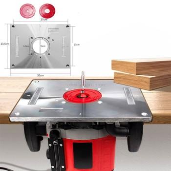 Elektryczny frezarka do drewna maszyna do przycinania etui z klapką płyta przewodnik tabeli aluminium routera tabeli wkładka płyta dla do obróbki drewna stół warsztatowy tanie i dobre opinie Engraving machine Flip Plate
