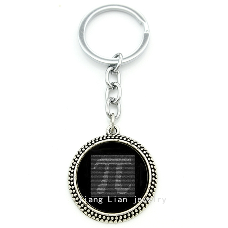 Charming plated silver jewelry key chain Pi Number maths physics gift idea accessories men women Engineer Christmas gift