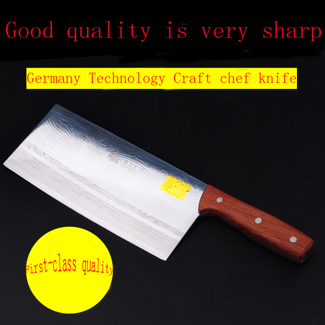 2017 LD Cooking Knife 8 Inch Chef Best Professional Kitchen Stainless Steel Laser Veins