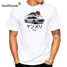 Antidazzle Men Tees Shirt Nissan Skyline GTR 34 Men's T Shirt Man 100% Cotton Short Sleeve T-shirts For Adult Tshirt Clothes(China)