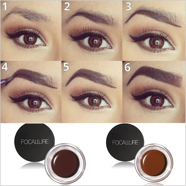 5 Colors Henna Eyebrow Gel Professional Eye Brow Tint Makeup Tool