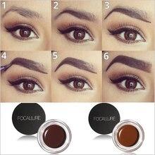 5 Colors Henna Eyebrow Gel Professional Eye Brow Tint Makeup Tool Kit Black Liquid Eye liner Shadow Gel With Brow Brush