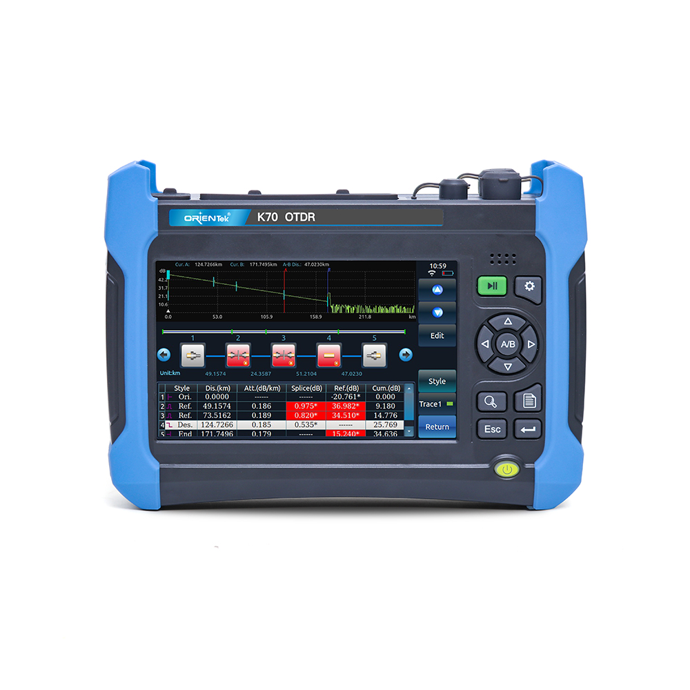 Orientek K70 Live PON OTDR 1310/1550/1625nm with OPM VFL,Can pass splitter, 7-inch TFT color LCD OTDR , PON OTDR Free Shipping