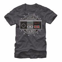 9d34b567 Nintendo Classically Trained NES Video Game Controller Men's T shirt Summer  Cotton Tee Shirt Cotton Hight
