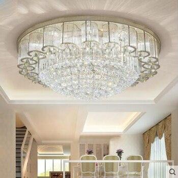 פשוט אווירה מודרני זהב מלבני סלון מנורת קריסטל מנורות תקרה הובילו תאורת מחקר חדר אוכל חדר שינה מנורות