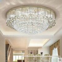 Modern golden rectangular crystal lamp living room atmosphere simple ceiling lamps led bedroom dining room study lighting lamps