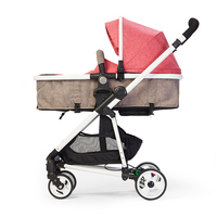 WLA High Landscape Stroller Baby Stroller Can Lay Ultra light Four wheeled Cart Lightweight Folding Travel Stroller