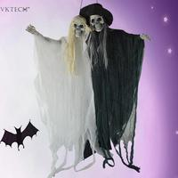 Shining Skull Hanging Ghost Scary Skeleton Couple Ghost Halloween Door Kit Holiday Festive Home Party Decoration Party Supplies