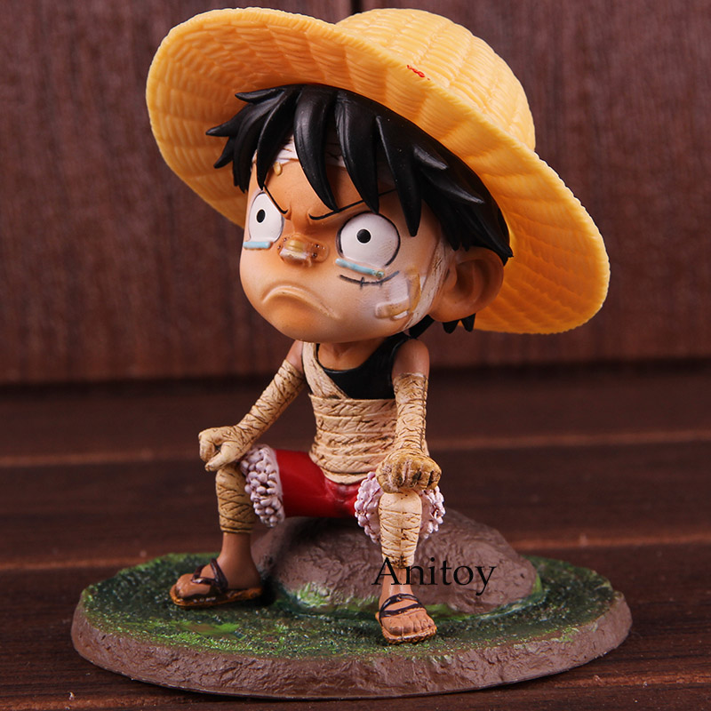 Hkxzm Anime One Piece Young Child Monkey D Luffy Pvc Figure Collectible Model Toys Gift Action & Toy Figures