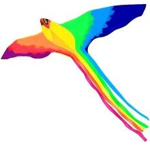 Сильный феникс с длинным Красочные хвост! огромный начинающих Феникс воздушные листовые змеи для детей и взрослых 74-дюймовый приходят в силе IKEA с веревкой и Handl