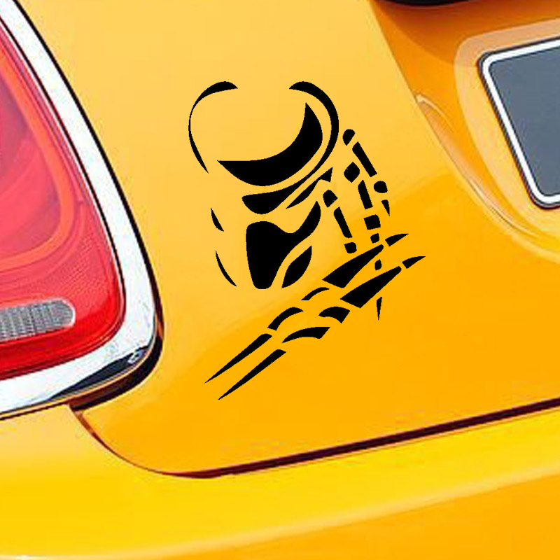 15 12cm Car Sticker Decoration Windshield Bumper Decal smooth surface Predator Alien Funny Vinyl Decals in Car Stickers from Automobiles Motorcycles