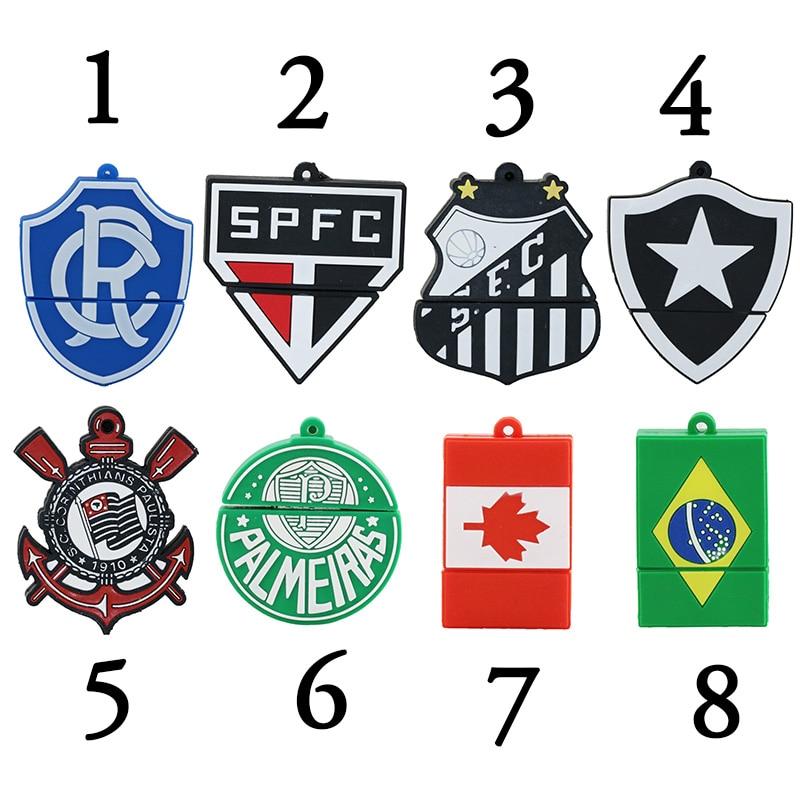 Trend Fashion Brazil Creative Cruzeiro Club LOGO Football font b USB b font font b Flash