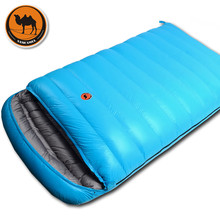 цены Camcel ultralight camping sleeping bag envelope white duck down sleeping bag compression  Double sleeping bag