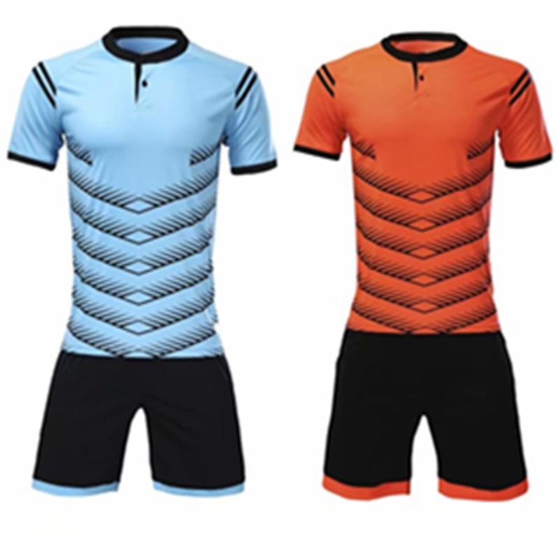 2018 Men s Soccer Jerseys Striped Blank Training Set Uniform Plain font b Football b font