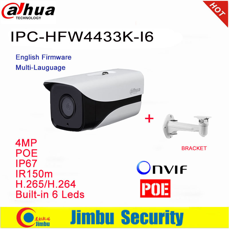 Dahua 4MP Ip Caméra IPC-HFW4433K-I6 Starlight support de caméra IP67 POE IR150M DH-IPC-HFW4433K-I6 caméra cctv avec support