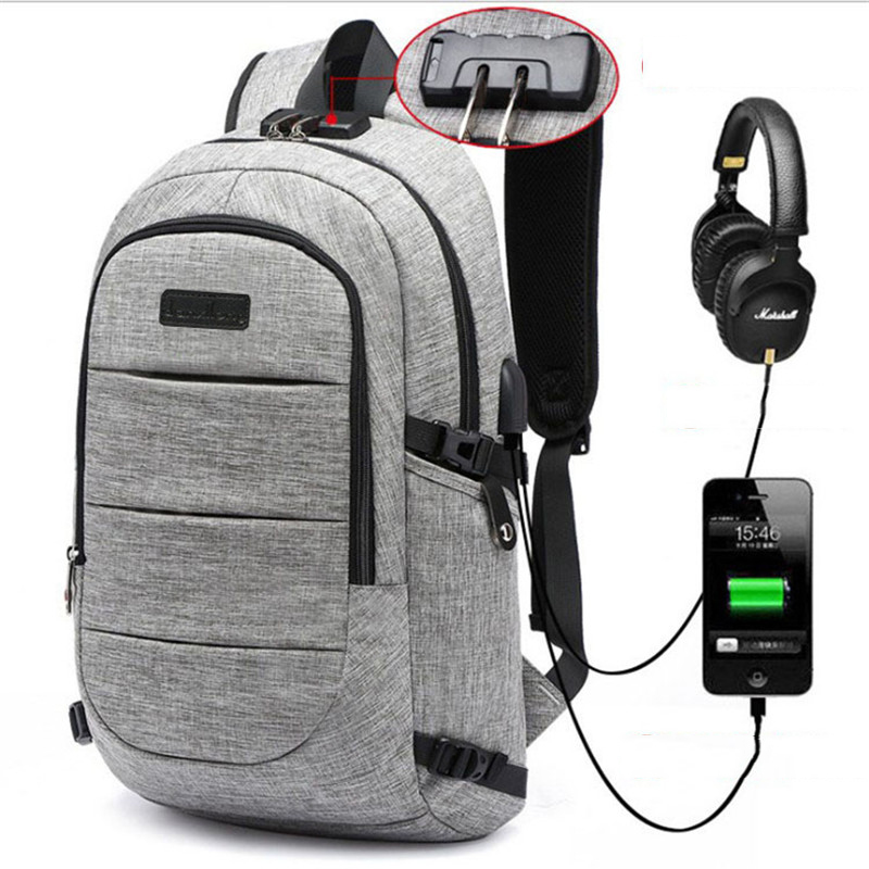 "New Design Anti-theft Usb Charging Travel Backpack Men Women School Bag Large 15.6"" Laptop Bag With Combination Lock"