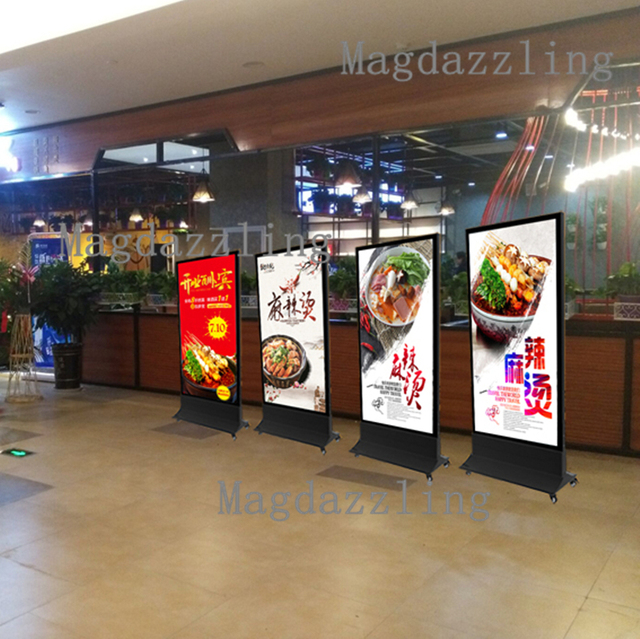 Restaurant outdoor movable double sided magnetic led illuminated restaurant outdoor movable double sided magnetic led illuminated menu light box sign with rechargeable battery aloadofball Gallery