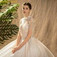 Свадебное платье принцессы, романтическое роскошное свадебное платье невесты с кристаллами и кисточками, свадебное платье De Mariage 2019