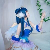Anime! Lovelive! Sunshine! Aqours Angel Awaken Tsushima Yoshiko Uniform Dress Cosplay Costume For Women Free Shipping