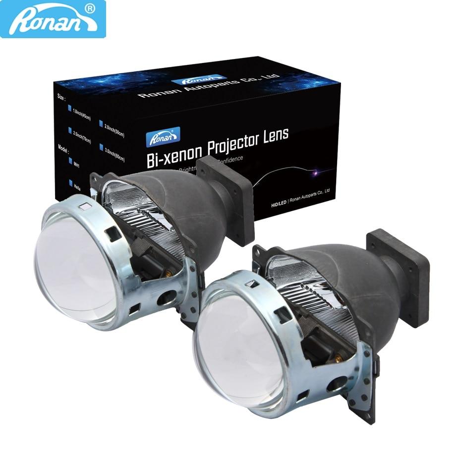RONAN 3.0inch Q5 Car Bi Xenon HID Projector Lens 35W for car headlight high low beam use D1S D2S D2H D3S D4S Super Bright