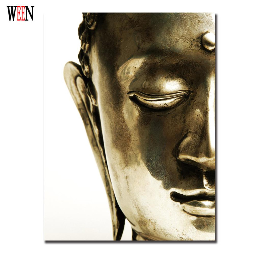 Oro Buda Joss lienzo meditación pintura poster vintage moderno 1 ...