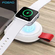 FDGAO Fast Wireless Charger for Apple Watch Series 4 3 2 1 USB Magnetic Quick Charging Cable For iwatch Charger Adapter Pad Dock crested charger for apple watch iwatch band strap series 4 3 2 1 wireless usb certified magnetic iwatch charge charging cable 1m