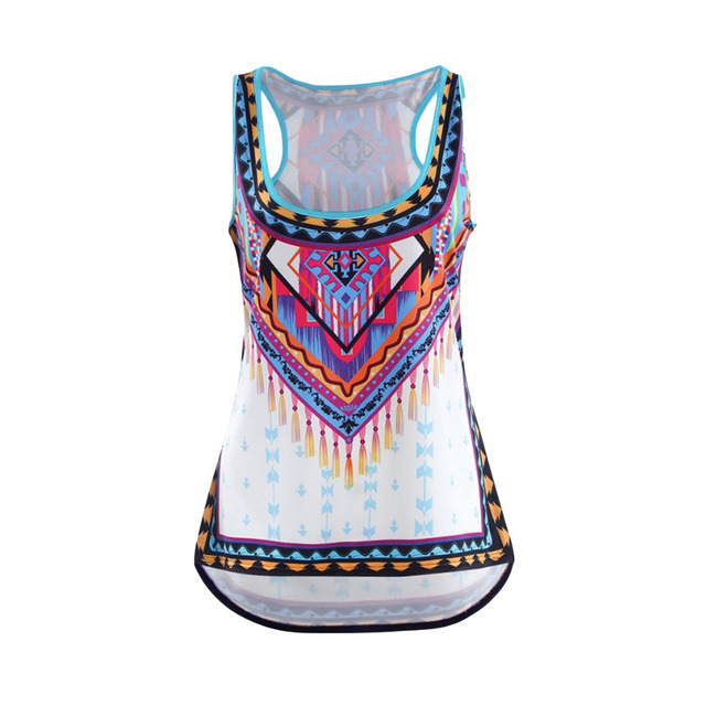 Womens Sleeveless Boho Top